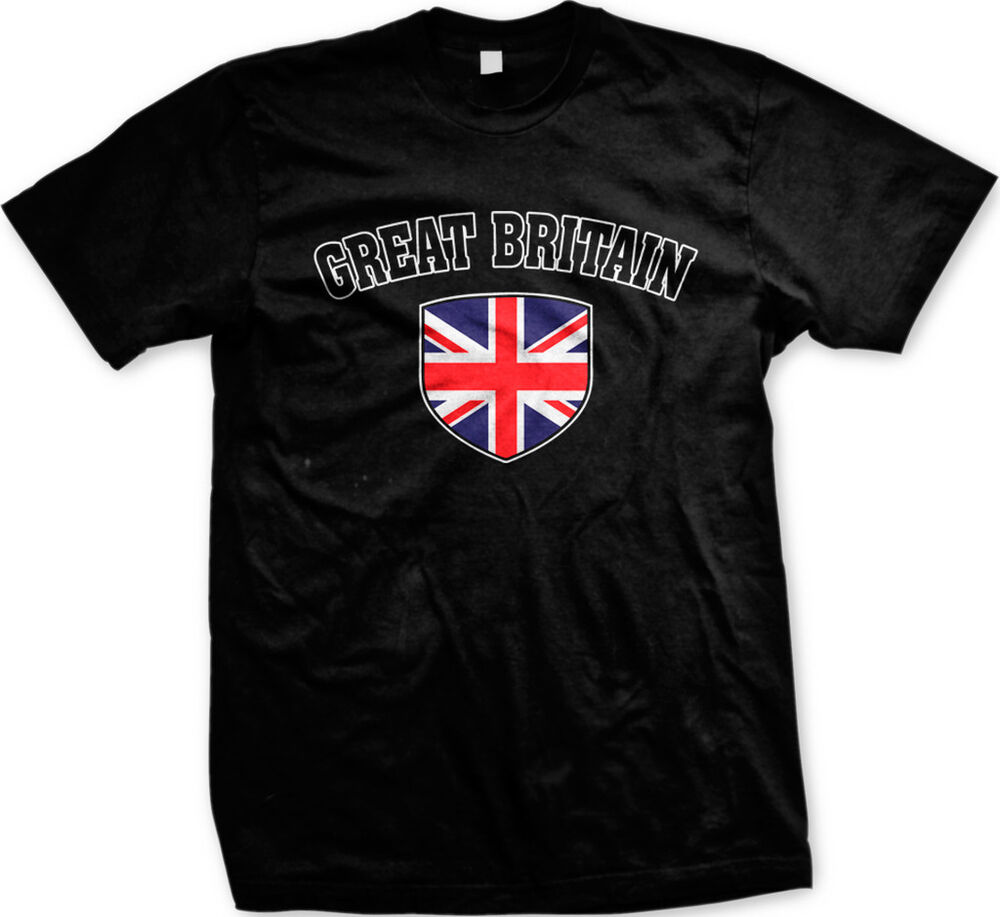Great Britain Flag Crest Nationality Pride Mens