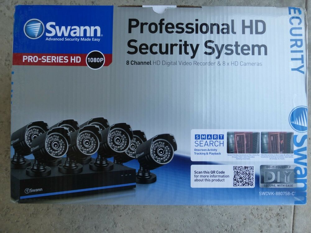 Swann 8 Channel 1080p Tvi Dvr Security System With 8 1080p