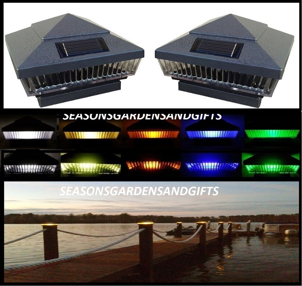 Solar Post Cap Deck Fence LED Lights 5x5 Or 6x6 Painted