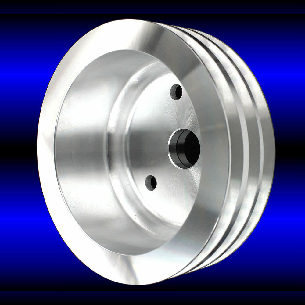 Billet Aluminum Crankshaft Pulley 3 Groove Fits BB Chevy