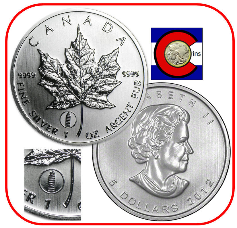 2012 Canada Leaning Tower Of Pisa Privy Maple Leaf 1oz