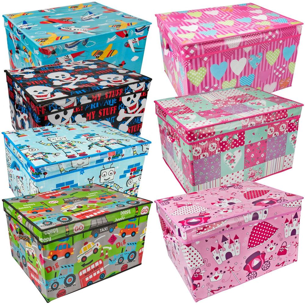 Large Kids Storage Box Childrens Toy Chest Clothes Laundry ...