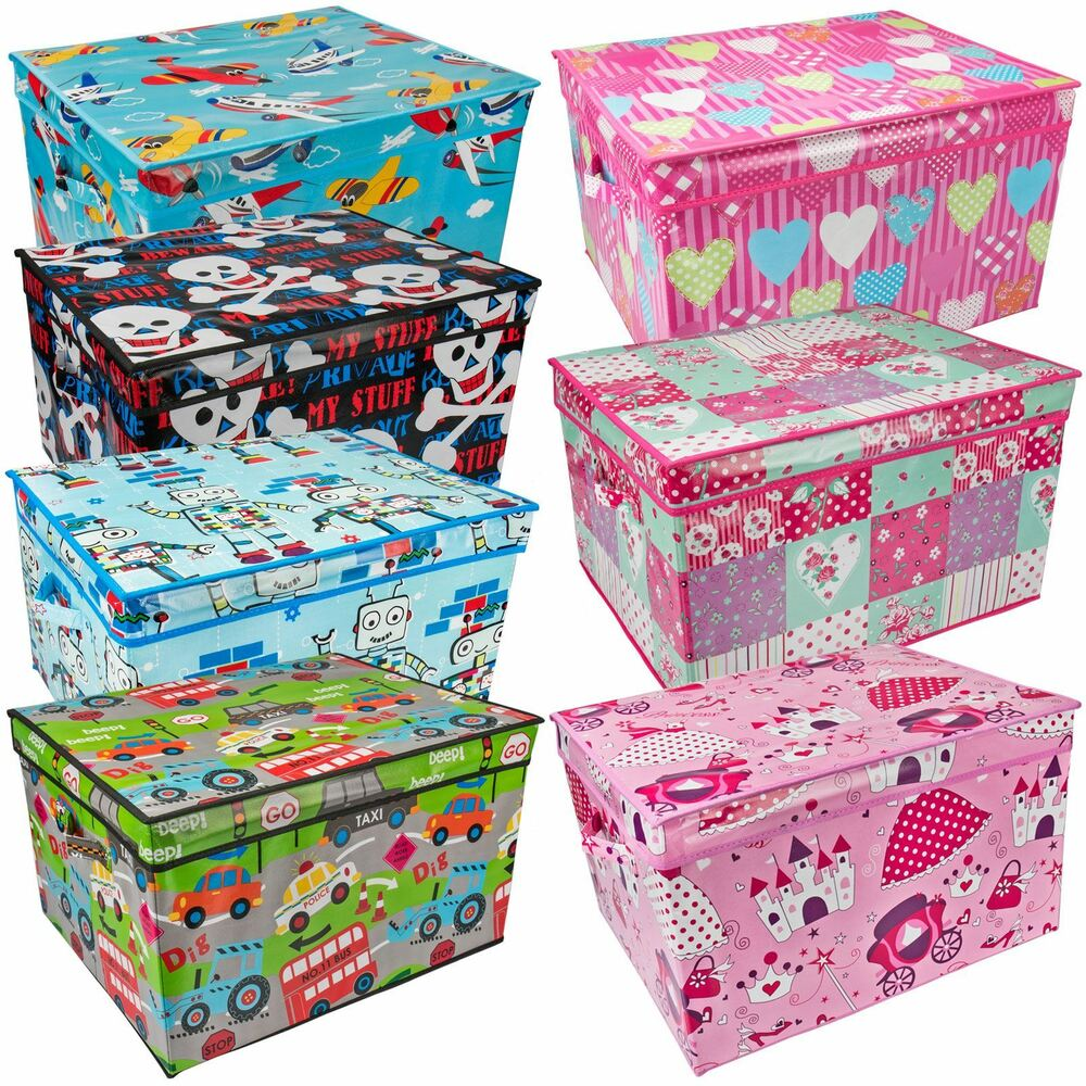 Disney Collapsible Storage Trunk Toy Box Organizer Chest: Large Kids Storage Box Childrens Toy Chest Clothes Laundry