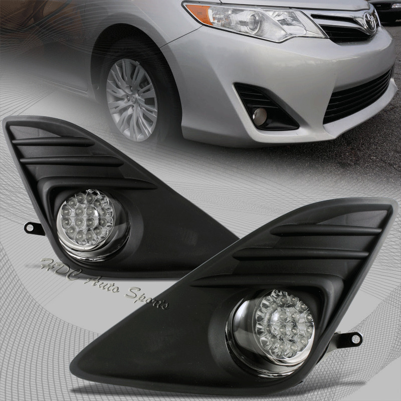 for 2012 2014 toyota camry white 32 led clear bumper fog. Black Bedroom Furniture Sets. Home Design Ideas