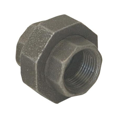 Quot black malleable iron union fitting pipe npt ebay