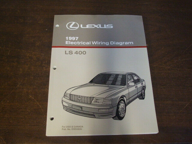 1997 Lexus Ls400 Ls 400 Electrical Wiring Diagram Service