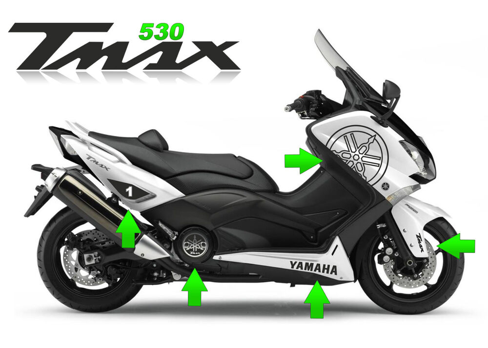 kit adesivi scooter yamaha tmax 530 t max t max stickers moto racing tuning ebay. Black Bedroom Furniture Sets. Home Design Ideas