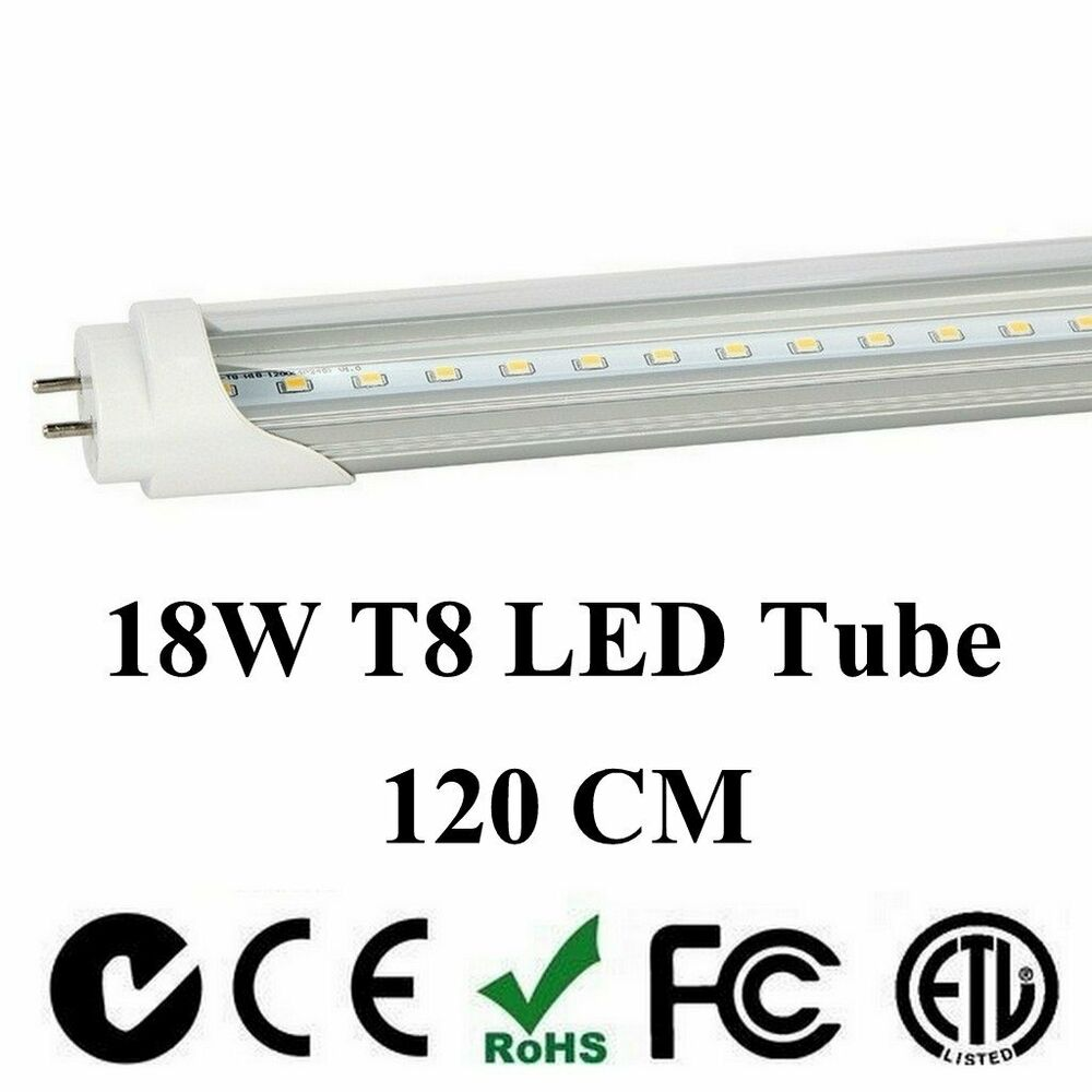 4 100 pack led g13 t8 4ft 48 inch tube light lamp 120cm 18w 20w 2 lines bulbs ebay. Black Bedroom Furniture Sets. Home Design Ideas