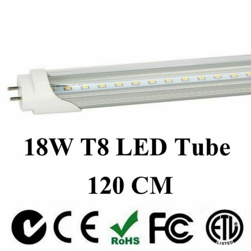"4-100 Pack LED G13 T8 4FT 48"" Inch Tube Light Lamp 120cm 18W 24W 2 Lines Bulbs"