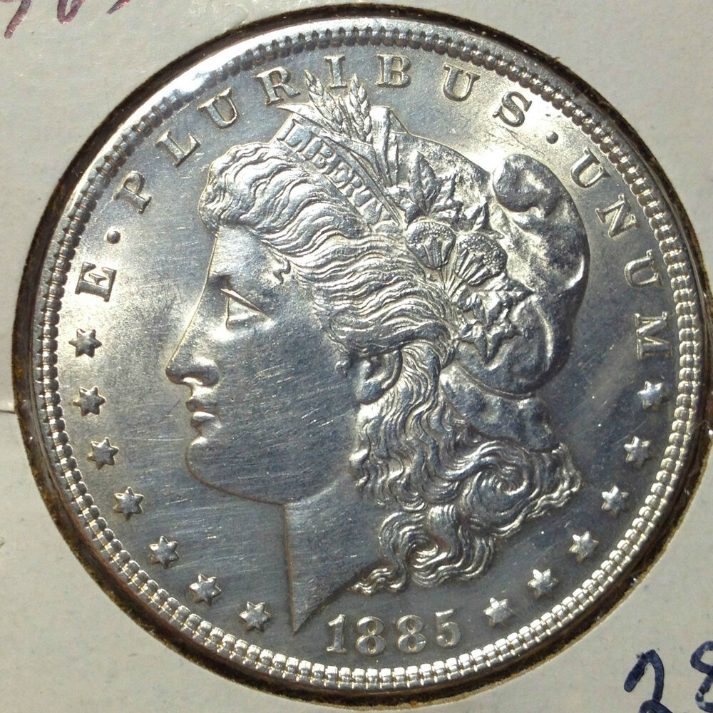 1885 Morgan Silver Dollar High End Coin From Old Type Coin