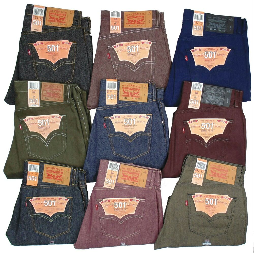 Levis 501 Button Fly Jeans Shrink To Fit Many Sizes Many