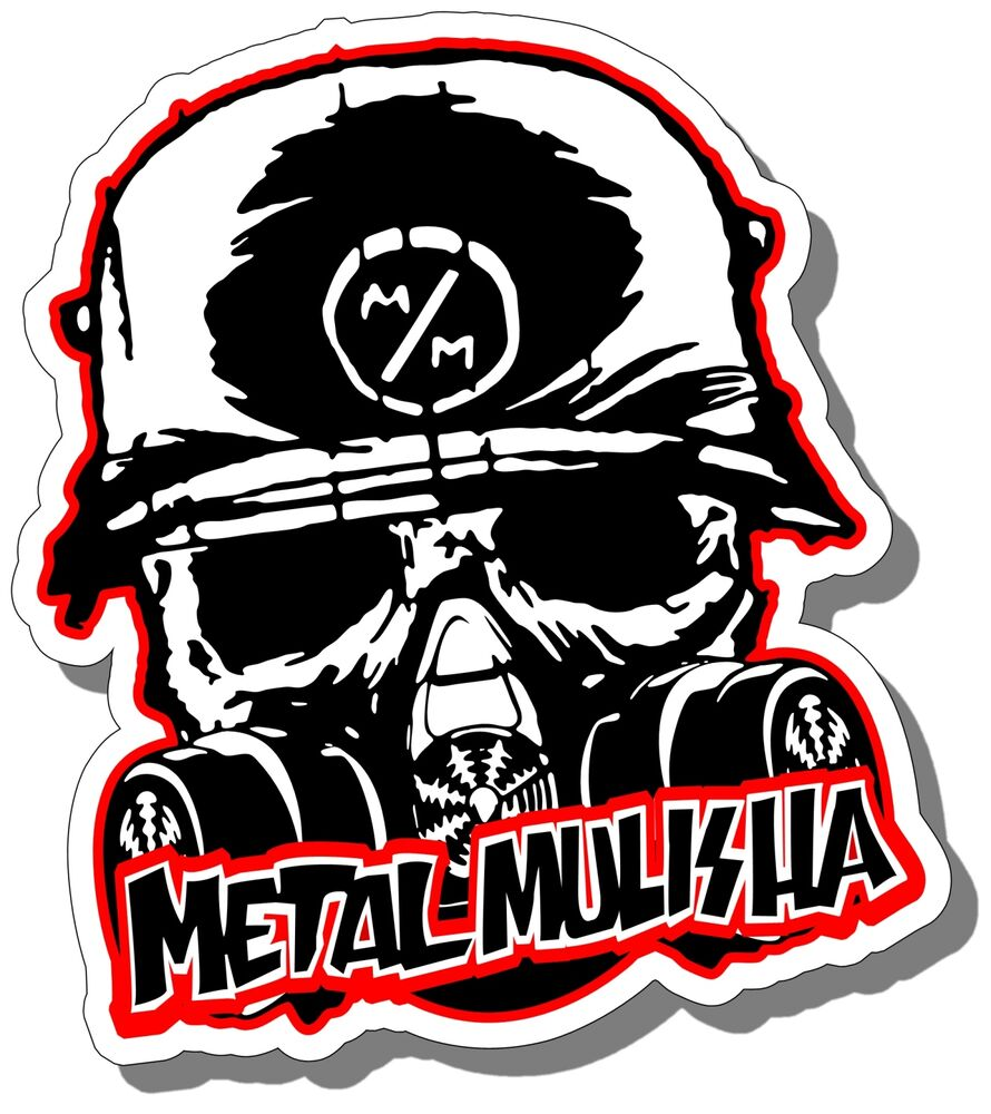 large metal mulisha 6 0 x 5 0 rock music car truck bumper rh m ebay com metal mulisha logo meaning metal mulisha logos wallpaper