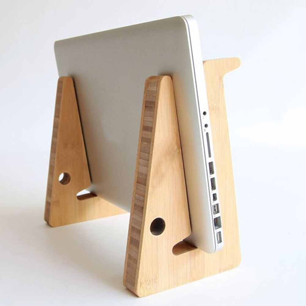Wood Adjustable Desk Table Mount Holder Stand For Tablet