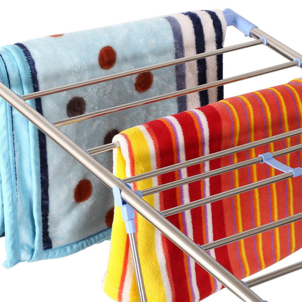 Clothes Rack Drying Laundry Folding Hanger Dryer Indoor