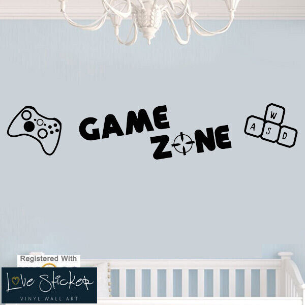 wall stickers game zone ps3 ps4 xbox computer games art decals vinyl