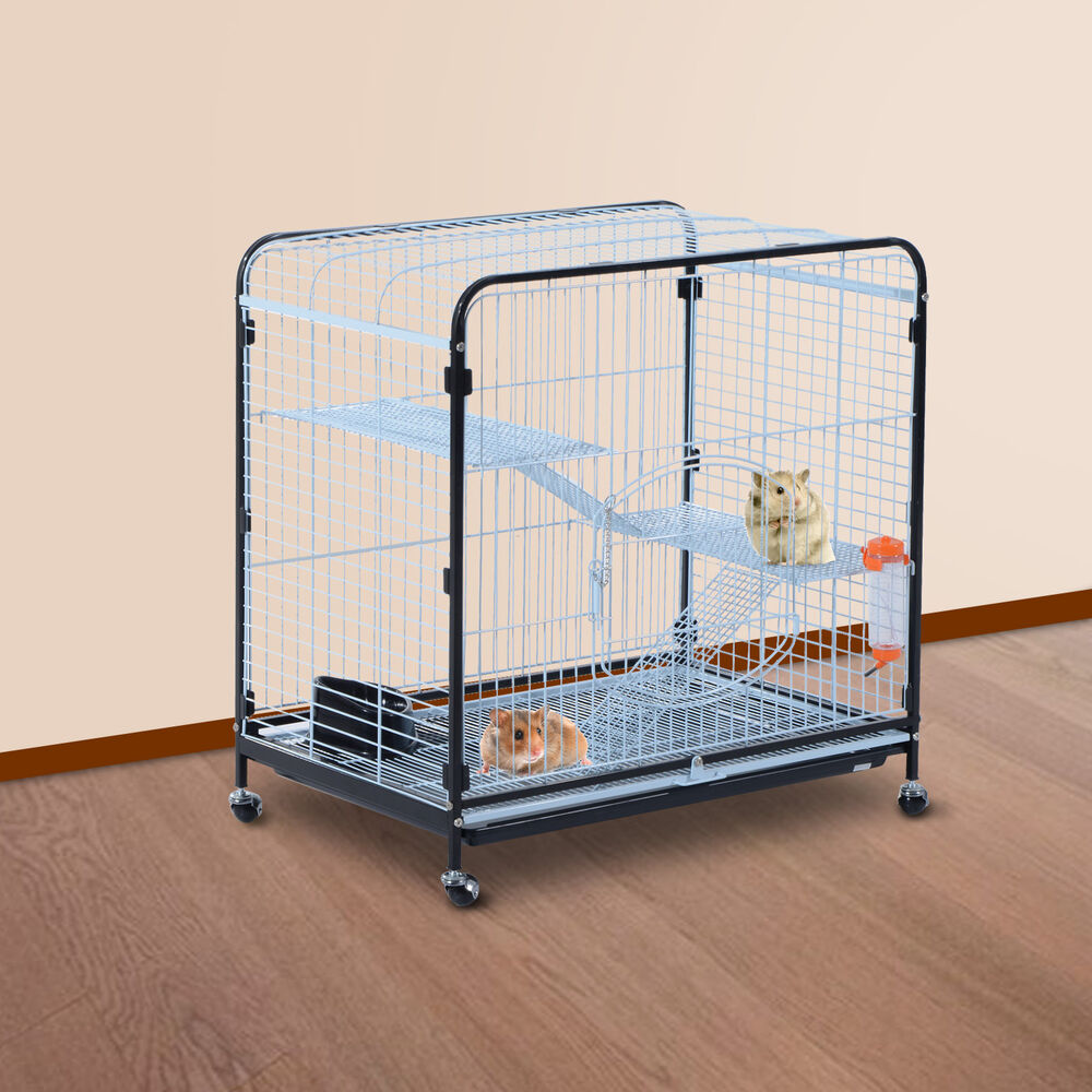 32 small animal pet cage mice rabbit hutch metal wire. Black Bedroom Furniture Sets. Home Design Ideas
