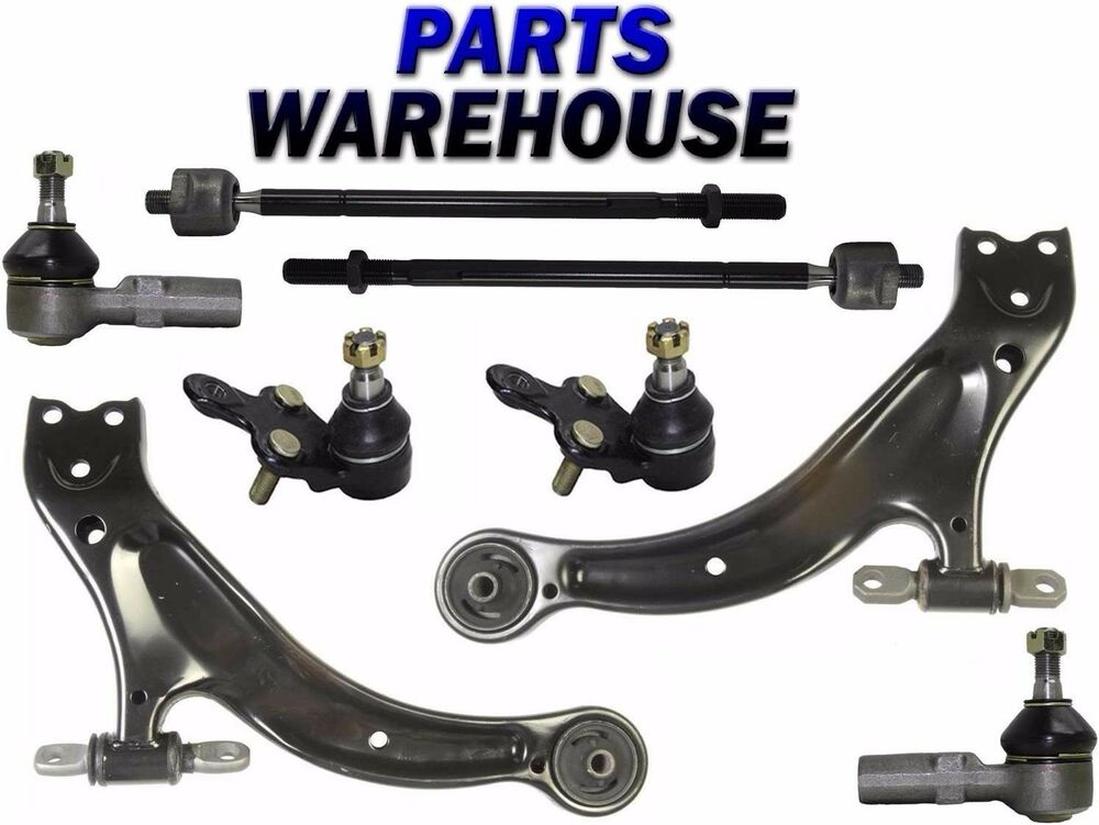 8 Pc Front Lower Control Arm W Ball Joints Tie Rods Toyota