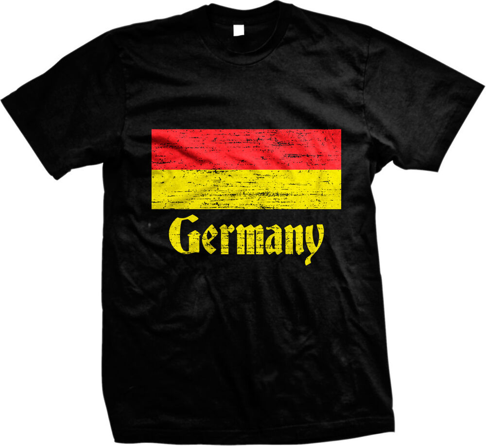 distressed germany country flag deutschland german mens t shirt ebay. Black Bedroom Furniture Sets. Home Design Ideas