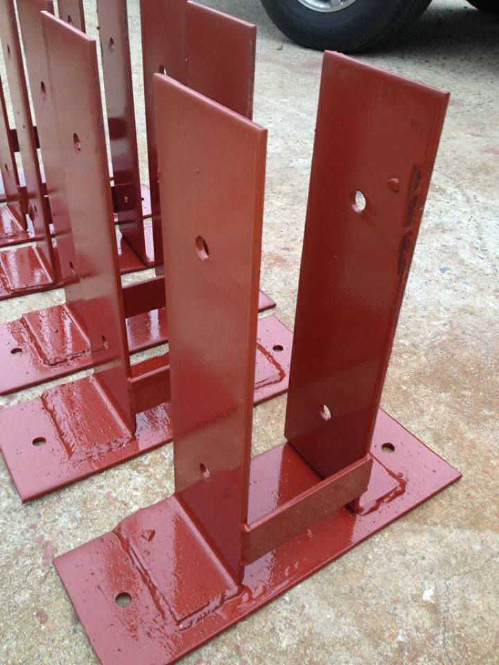 Pole Barn Surface Mounting Dry Set Post Anchor Wood To