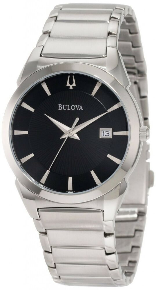 Bulova Men's 96B149 Classic Stainless Steel Black Dial ...