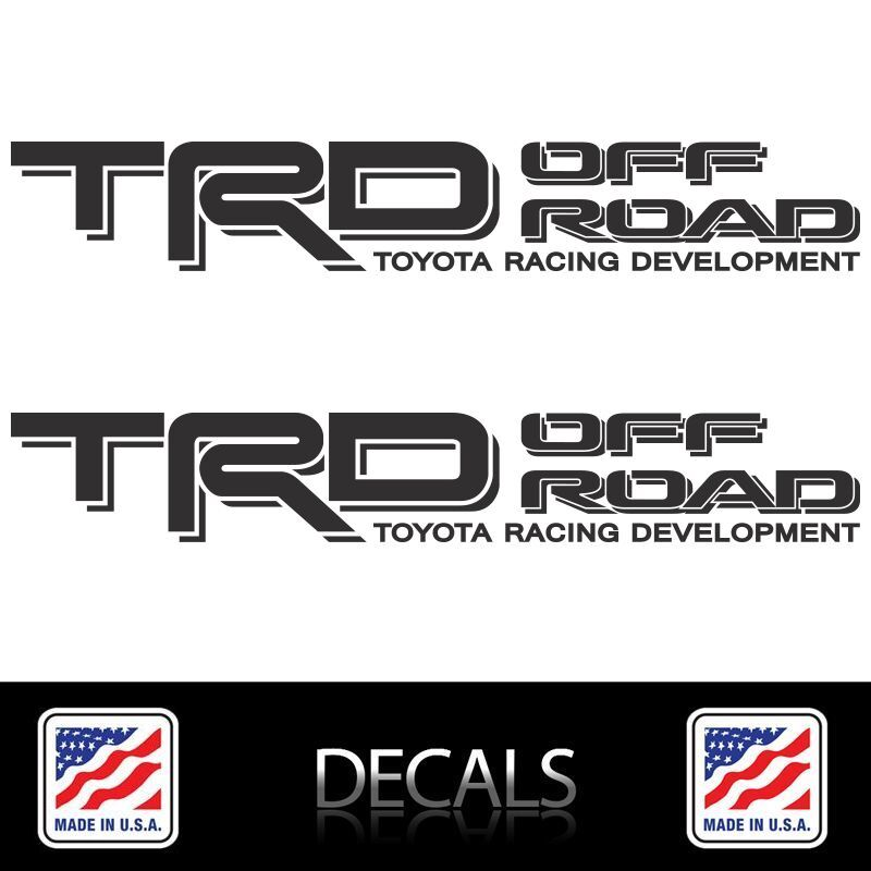 Toyota 4runner Off Road >> (2) TRD OFF ROAD Decals Stickers Matte Black Vinyl Toyota Tacoma Tundra 4Runner | eBay