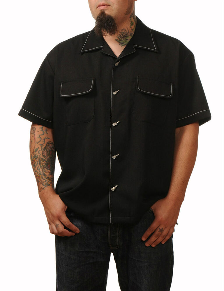 Steady Clothing Music Button Up Lounge Shirt Guitar