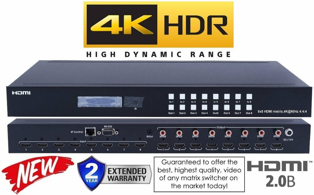 New 4k 8x8 Hdmi Matrix Switcher 4k2k 1080p Uhd Crestron