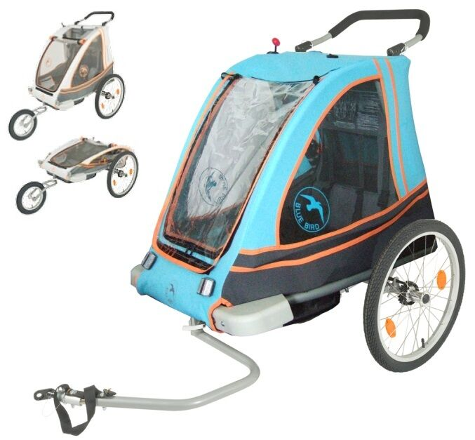 blue bird 2 in 1 alu fahrrad kinderanh nger jogger. Black Bedroom Furniture Sets. Home Design Ideas