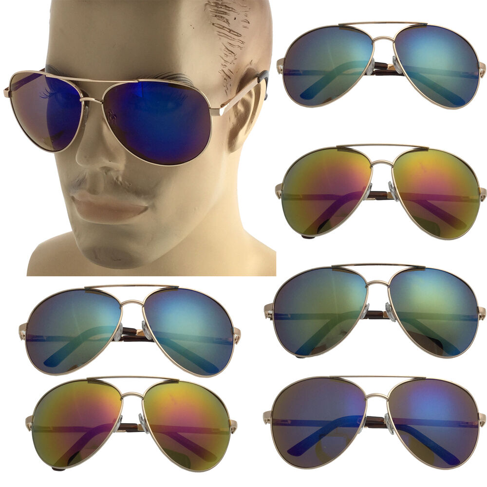 a712117e090 Details about Extra Large Gold Frame Aviator Sunglasses Big Head Oversized  62mm Mirror Men XXL