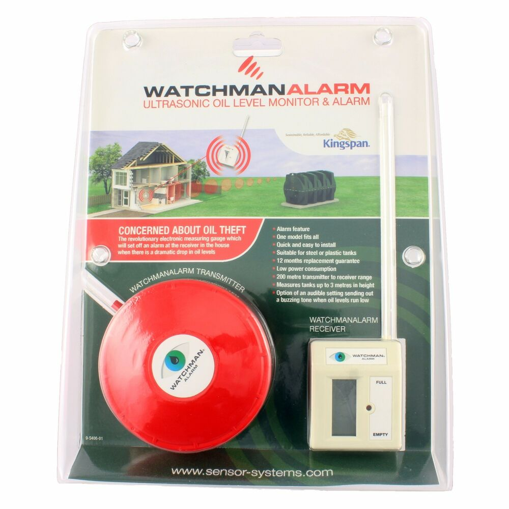 Watchman Alarm Red Sonic Oil Heating Tank Level Theft Monitor