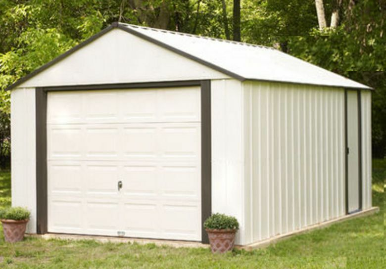 Shed pole barn 14x21 x large corrosion res vinyl coat for 12x10 roll up garage door