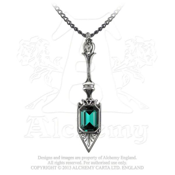Alchemy - Sucre Vert Absinthe Spoon - Pewter and Crystal Pendant