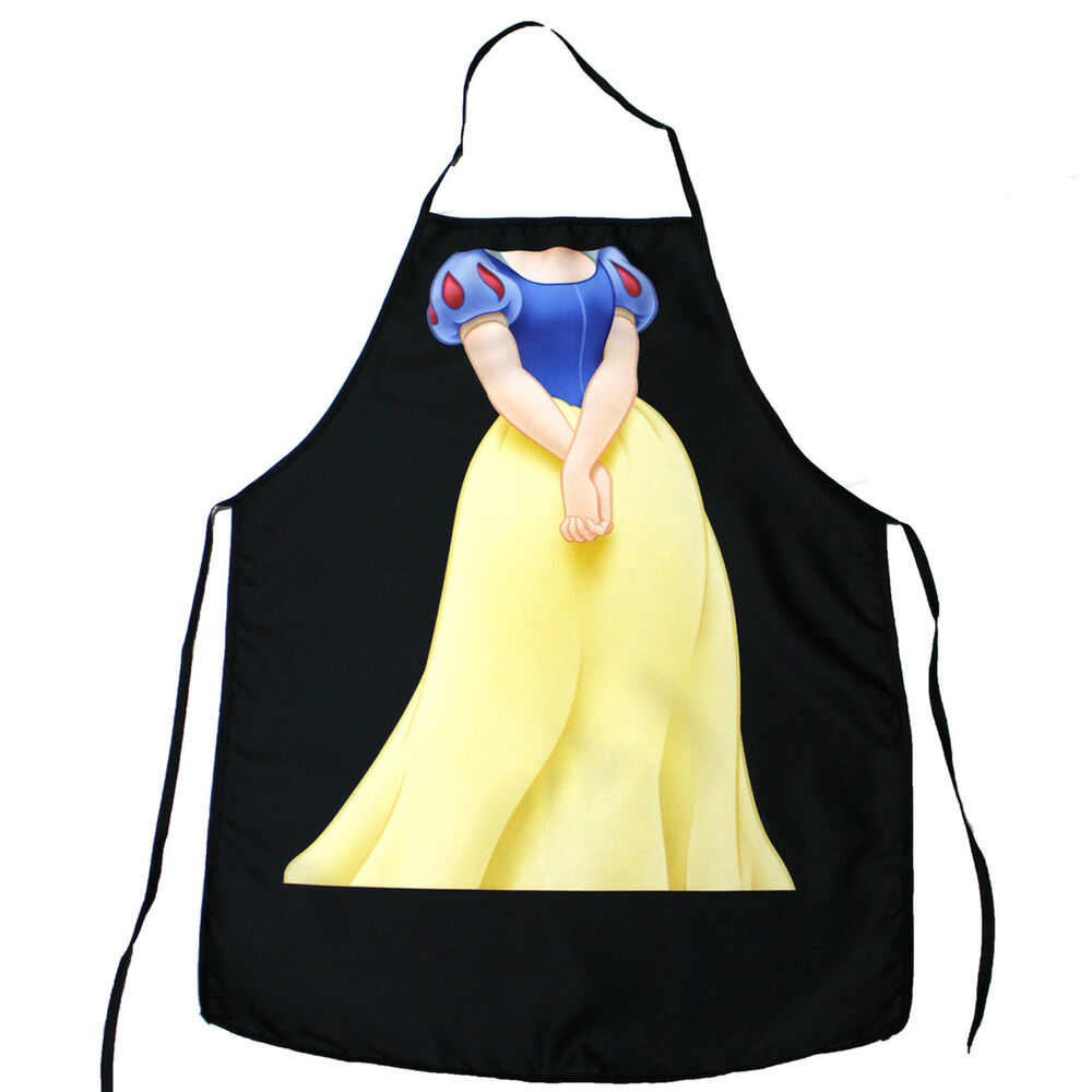 Snow White Apron Character Creative Funny Cooking Apron