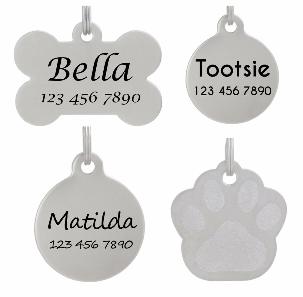Pet Id Tag Personalized Dog Tag Cat Tag Laser Etched