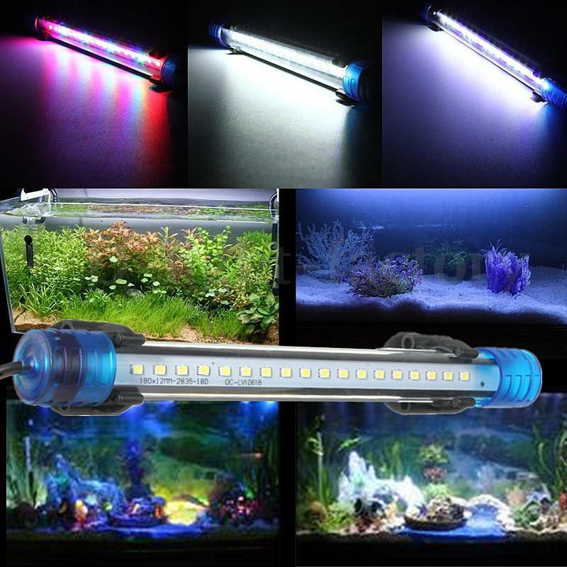 blue white rgb led aquarium lamp fish tank led bar. Black Bedroom Furniture Sets. Home Design Ideas