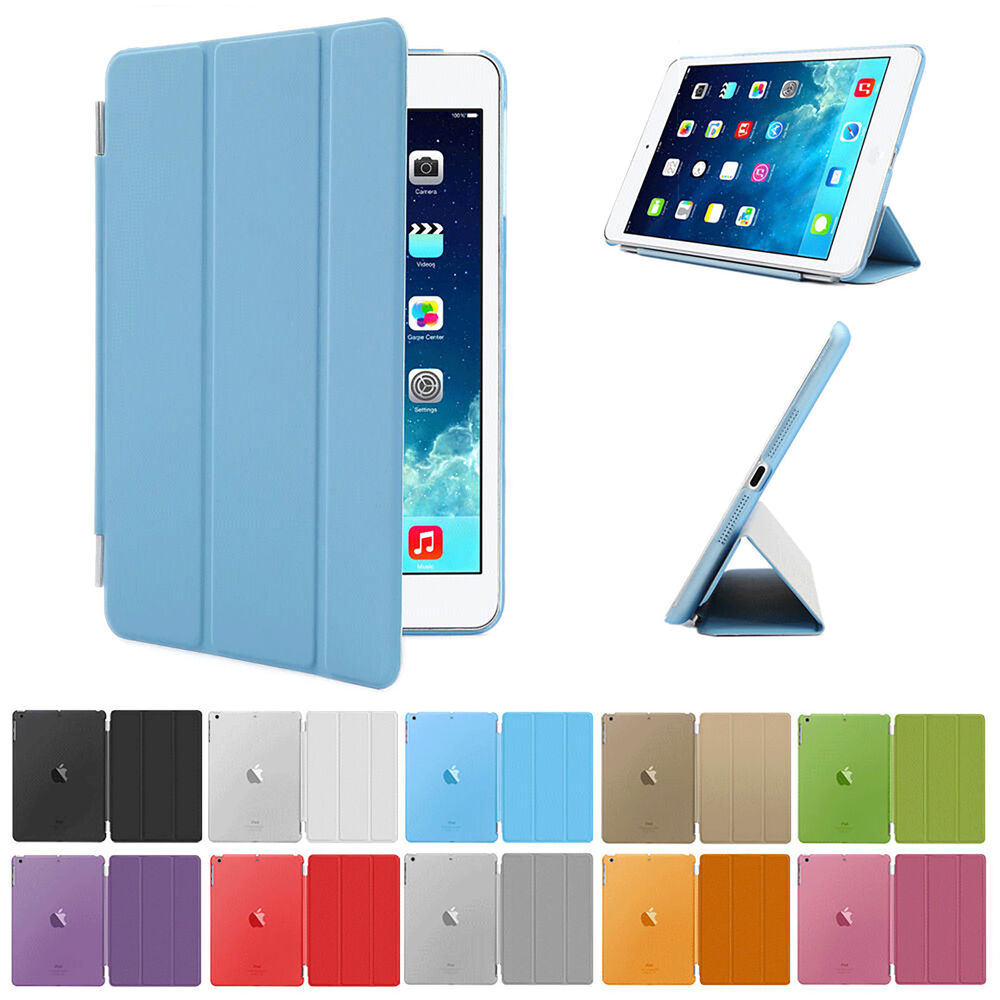 new smart stand magnetic leather case cover for apple ipad. Black Bedroom Furniture Sets. Home Design Ideas