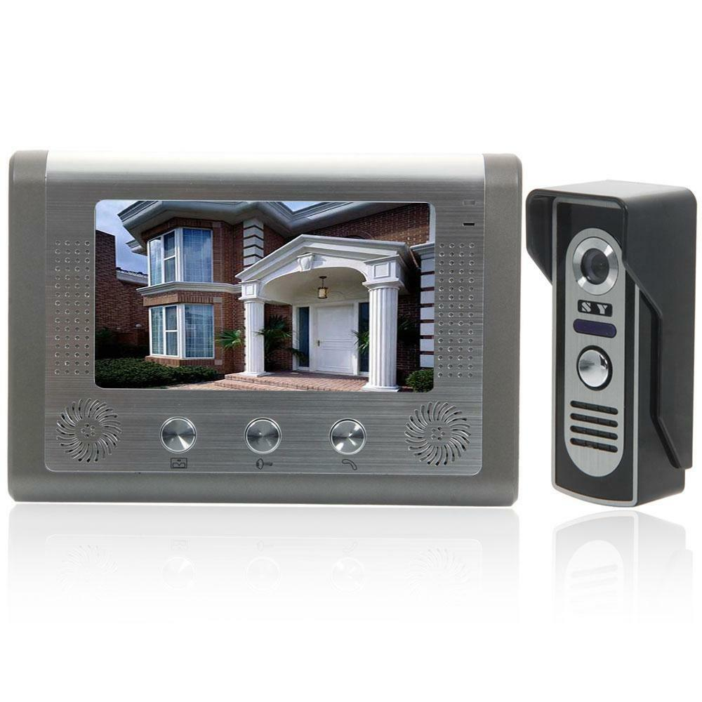 7 tft lcd monitor wired color video door phone doorbell for Door intercom