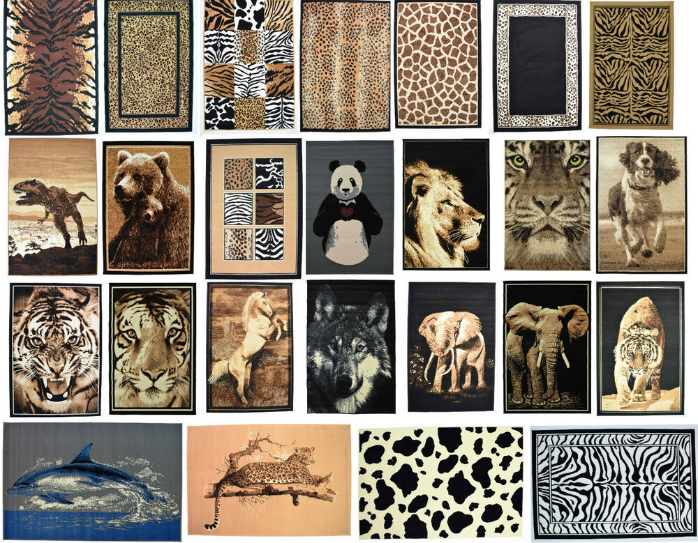 new modern small x large animal print area rugs soft. Black Bedroom Furniture Sets. Home Design Ideas