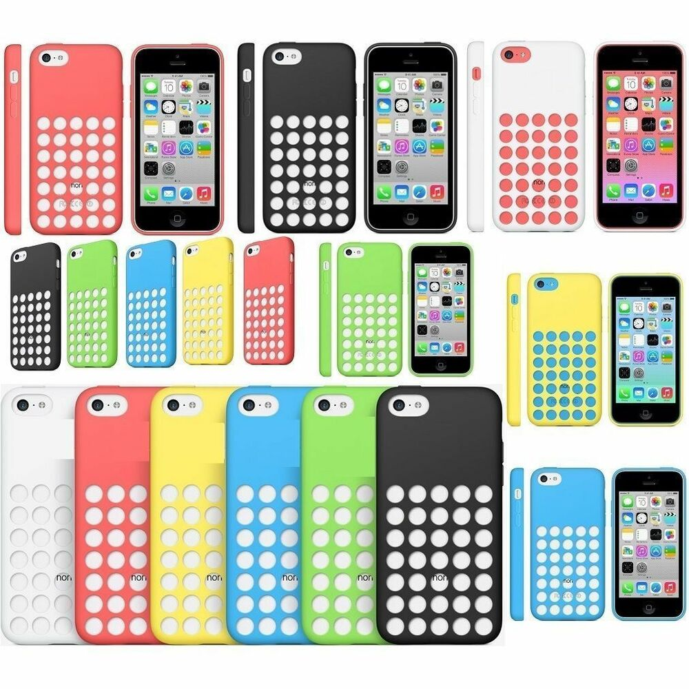 coque iphone 5c silicone couleur etui bumper trou housse original housse neuf ebay. Black Bedroom Furniture Sets. Home Design Ideas