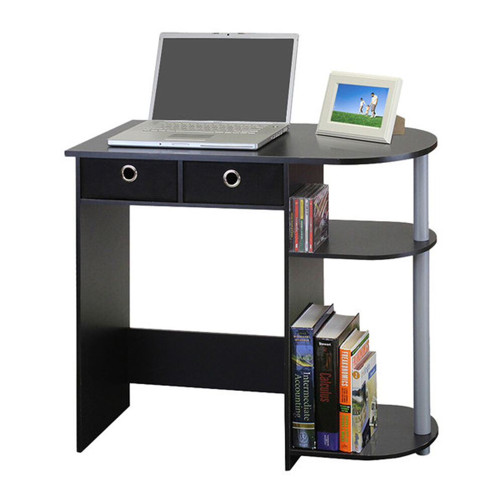 Small Computer Desk Writing Laptop Table Drawers Home Workstation