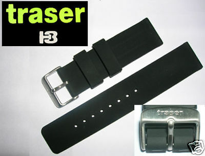 Traser Luminox Silicon Rubber Watch Band Strap 22mm New Ebay