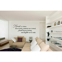 HOME IS WHERE LOVE RESIDES QUOTE VINYL WALL DECAL ART-DECOR