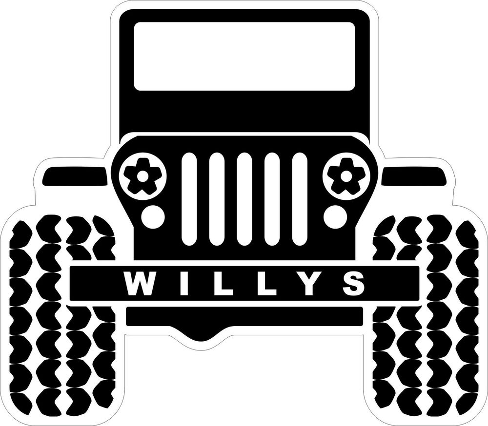 Details about willys jeep decal bumper sticker