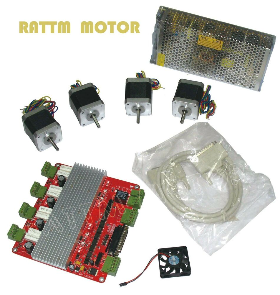 Cnc 4 axis nema17 stepper motor 78 oz in 4 axis board 4 axis stepper motor controller