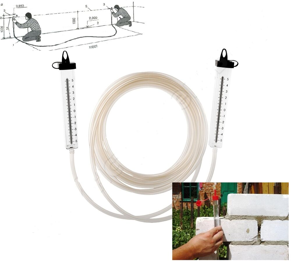 Level measure water leveler hose level for building a for How to level a house