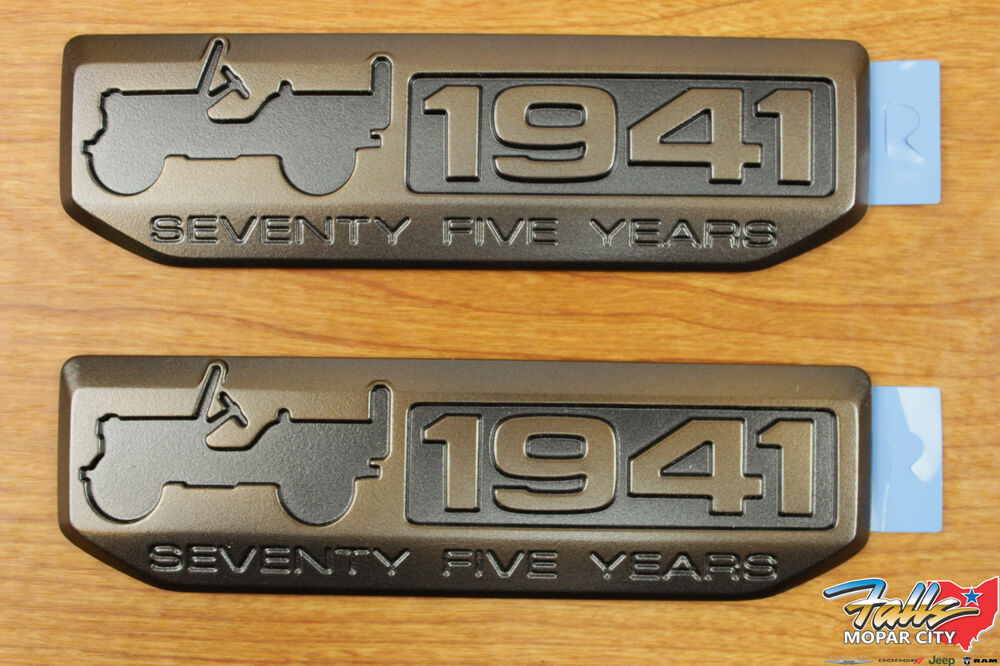 2016 Jeep Wrangler Set Of 2 Willys 75th Anniversary 1941 ...