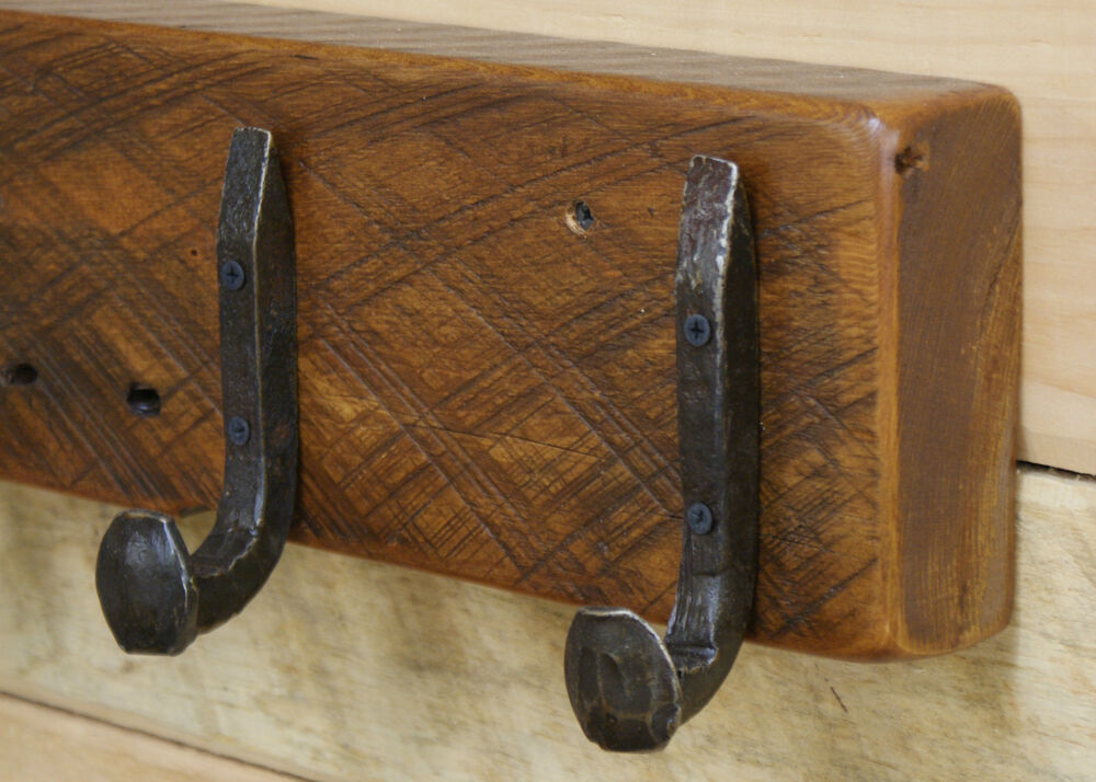 36 Quot Reclaimed Vintage White Pine Coat Rack With 6 Railroad