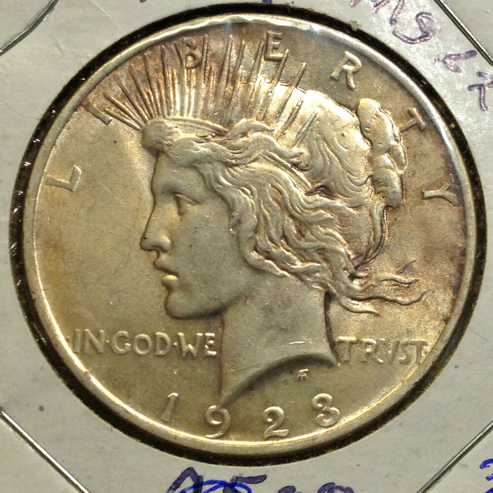 1923 Peace Silver Dollar High End Coin From Old Type Coin