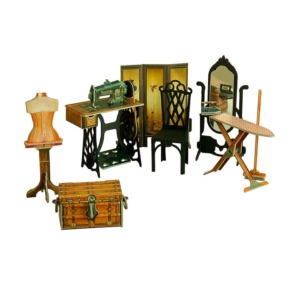 Furniture For Dolls Sewing Room Dollhouse Miniature Scale