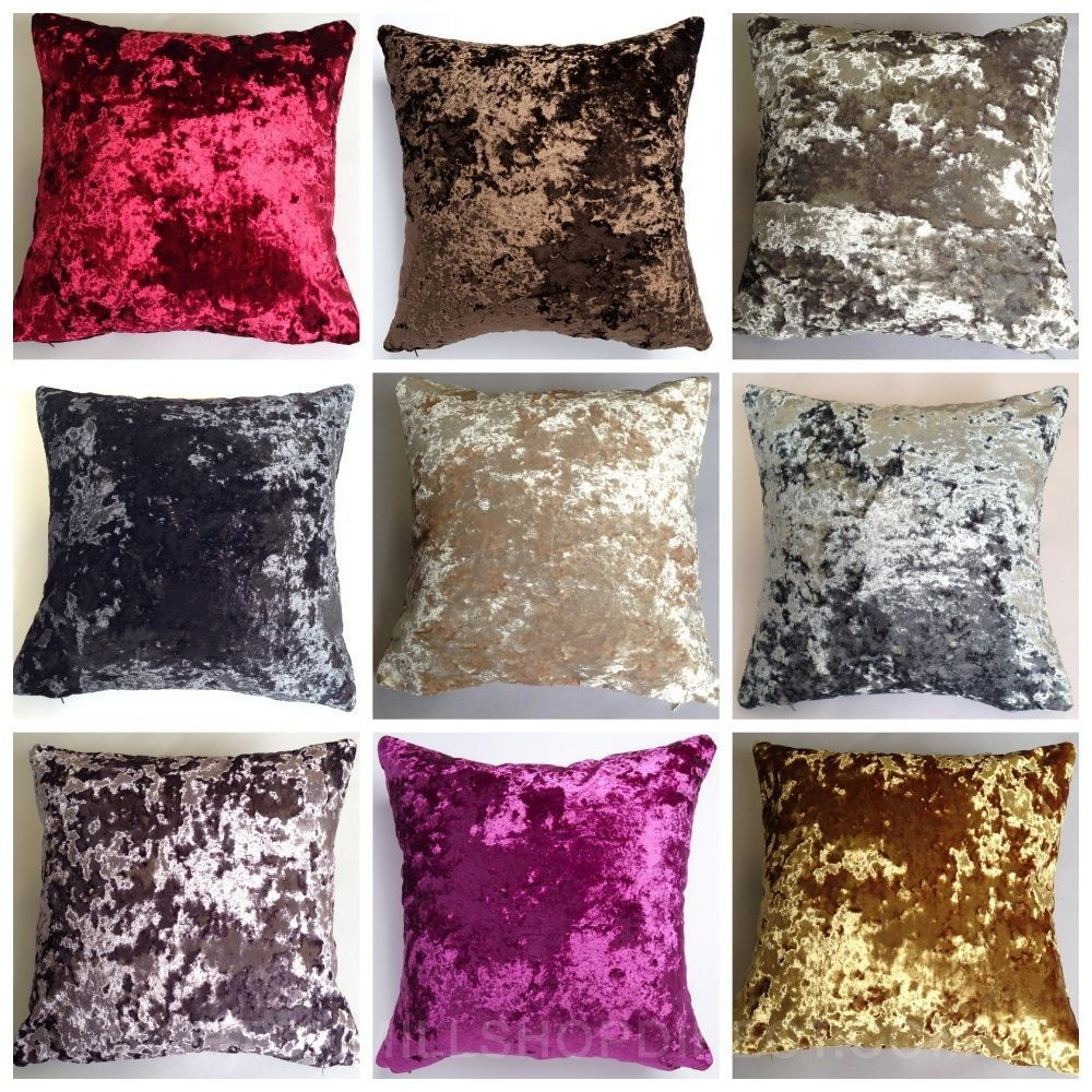 Next Season Berlyn Crushed Velvet Cushion Covers Double